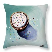 The Sprinkled Cupcake Throw Pillow