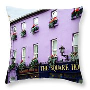 The Square House  Athlone Ireland Throw Pillow