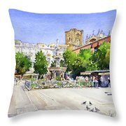 The Square In Summer Throw Pillow