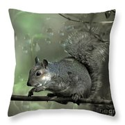 The Squirrel Throw Pillow