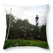 The St. Augustine Light Station Throw Pillow