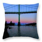 The St Johns Bridge Throw Pillow
