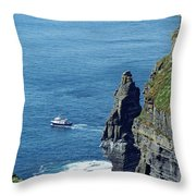 The Stack And The Jack B Cliffs Of Moher Ireland Throw Pillow