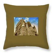 The Stafford Hotel Throw Pillow