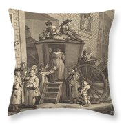 The Stage-coach, Or The Country Inn Yard Throw Pillow