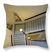 The Stairs To Museum Throw Pillow