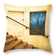 The Stairway Of Reflections Throw Pillow