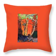 The Standley Chasm Throw Pillow