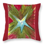 The Star From The Top Of The Tree Throw Pillow
