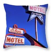 The Star Motel Throw Pillow