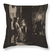 The Star Of Kings, A Night Piece Throw Pillow
