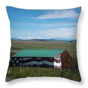The Star Spangled Barn Throw Pillow