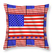 The Stars And Stripes 2 Throw Pillow