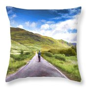 The Start Of A Journey Throw Pillow