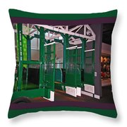 The Starting Gate Display In The Kentucky Derby Museum Throw Pillow
