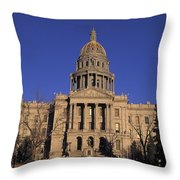 The State Capitol Building Throw Pillow