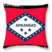 The State Flag Of Arkansas Throw Pillow