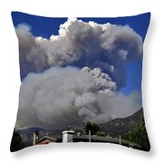 The Station Fire Panoramic Throw Pillow