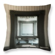 The Stationmaster's Window Throw Pillow