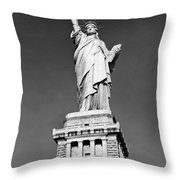 The Statue Of Liberty  Photo Throw Pillow
