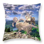 The Statue Of The Rock Throw Pillow