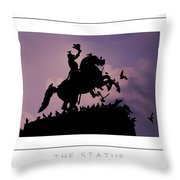 The Statue Poster Throw Pillow