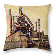 The Steel Stacks Watercolor Throw Pillow