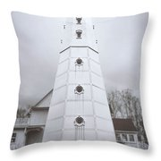 The Steel Tower Throw Pillow