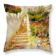 The Steps In Algiers Throw Pillow