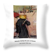 The Still-life Painter Throw Pillow