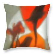 The Still Life With The Shadows Of The Flowers. Throw Pillow