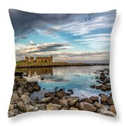 The Stilled Harbour... Throw Pillow