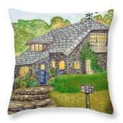 The Stone Cottage  Throw Pillow