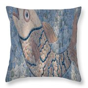 The Stone Fish Throw Pillow