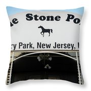 The Stone Pony, Asbury Park Throw Pillow