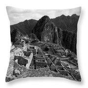 The Stonework Of Machu Picchu Throw Pillow