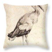 The Stork 1515 Throw Pillow