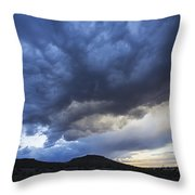 The Storm Above Throw Pillow