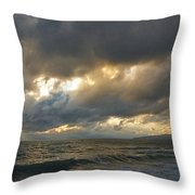 The Storm Comes Throw Pillow