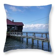 The Storm Is Coming Throw Pillow