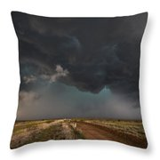 The Storm - Massive Thunderstorm Over Texas Panhandle Throw Pillow