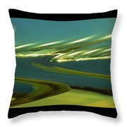 The Story Of Waves And Wind Throw Pillow