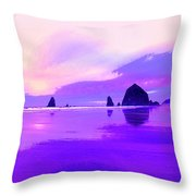 The Strand At Daybreak Throw Pillow
