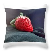 The Strawberry Portrait Throw Pillow