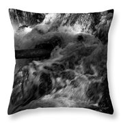 The Stream In Bw Throw Pillow