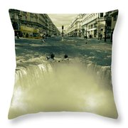 The Street Fall Throw Pillow