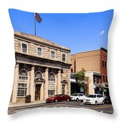 The Street In Mamaroneck Throw Pillow