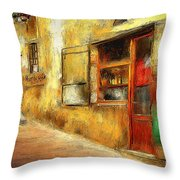 The Street  -- Original Painting Throw Pillow