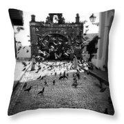 The Street Pigeons Throw Pillow