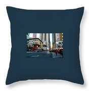 The Streets Of New York Throw Pillow